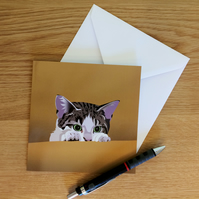Cat Card: Peeping Cat