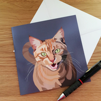 Cat Card: Ginger Cat