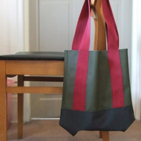 Waterproof Bag - Claret, Green & Black