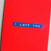 I Love You Card - Red
