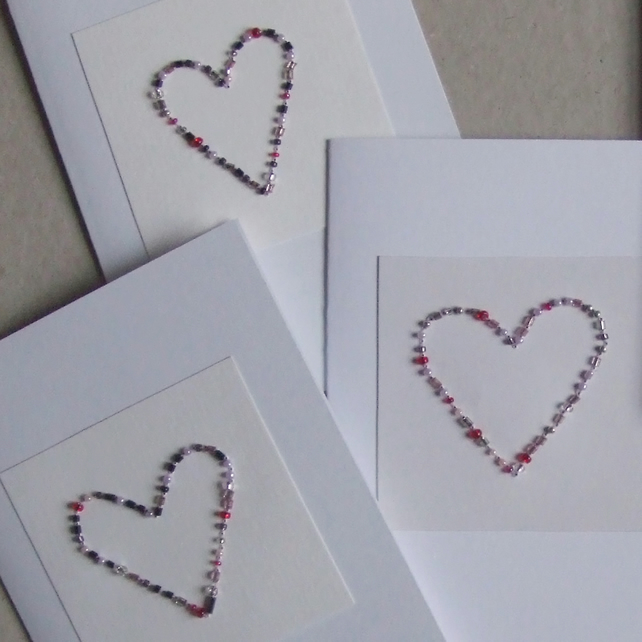 Handstitched Heart Card