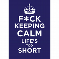 SALE - Keeping Calm Litho Print A4