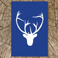 Stag Head Card