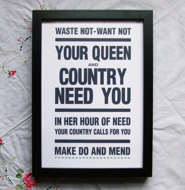 Your Queen and Country Need You - Framed Print