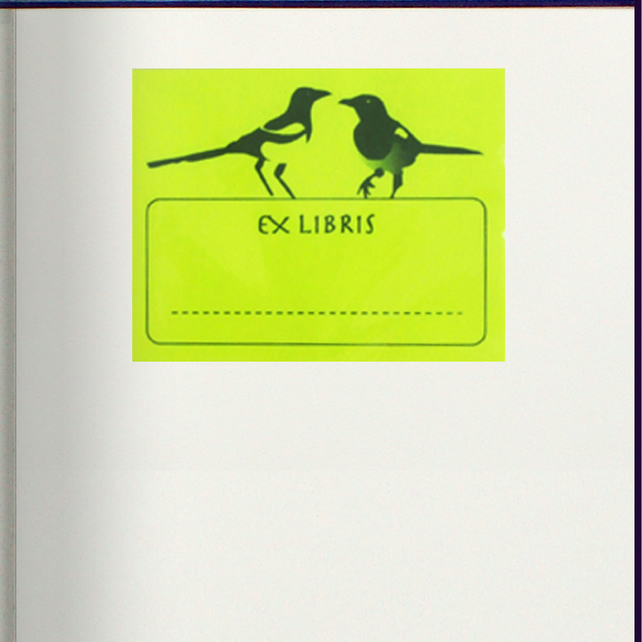 This Book Belongs To : Ex Libris Book Plate Stickers