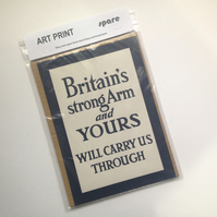Art Print - Britain's Strong Arms