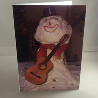 Snowman Christmas Card. Blank inside