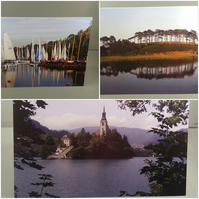 Set of 3 Landscapes by the water, greetings cards