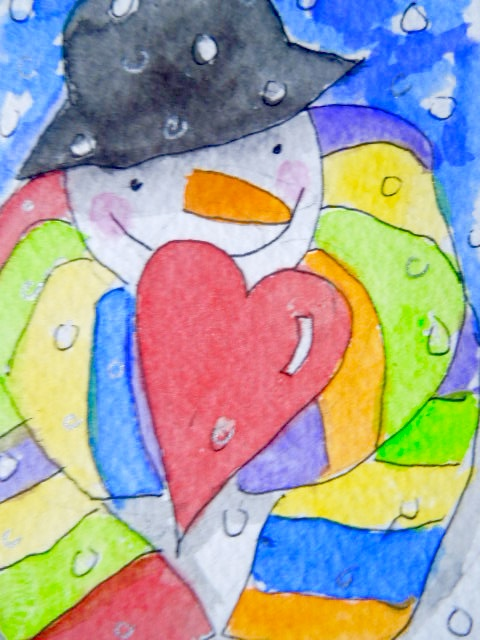 Original little watercolour painting - My special Valentine.