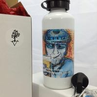 Gifts for him. Mens Cycling water bottle.   Work hard, Play hard