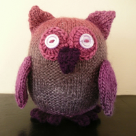 Purple and pink diamond owl