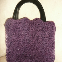 purple shell bag