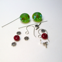 Lampwork bead earring kit