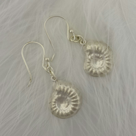 Nautilus half-shell Sterling silver earrings