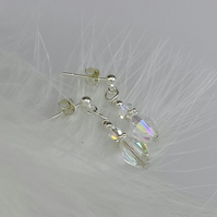 Pretty crystal and Sterling silver earrings