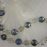 Chunky quartz and crystal necklace