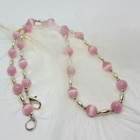 Cute pink beaded necklace