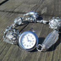 Summer ice silver ladies watch