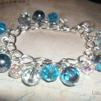 Ladies Blue & Silver Charm Bracelet - Aphrodisiac Cocktail