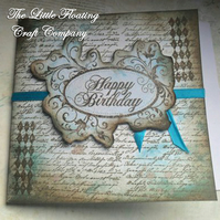 Gothic scripted birthday card