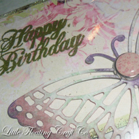 Soft vintage butterfly birthday