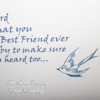 A little bird told me you were the best friend