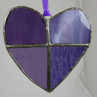 Stained Glass Purple Heart Light Catcher MTO