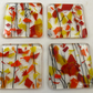Fused Glass Coasters with Bright Sunshine and Fiery Colours - set of 4  MTO