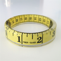 Tape Measure Bangle Sewing Jewellery. Handmade in Ireland