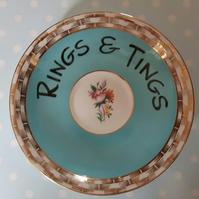 Vintage orphan saucer trinket tray for your rings & tings
