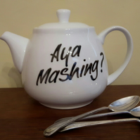 ''Aya Mashing?' Small two to three cup teapot