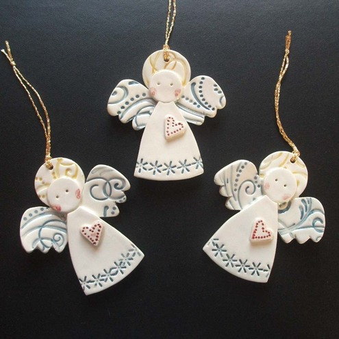 Ceramic Christmas Angels