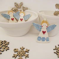 Ceramic Christmas Angel Pottery angel guardian angel Christmas decoration