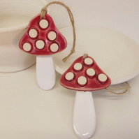 Ceramic Woodland Toadstool decoration