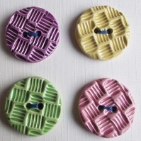 Set of four large  ceramic buttons