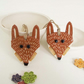 Special price two Ceramic Fox decorations