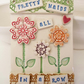 Ceramic flower wall plaque Pretty Maids all in a Row
