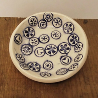 Useful little pottery dish, votive holder, trinkets Ceramic
