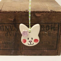 Pottery Bunny decoration  Rabbit Easter