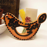 ceramic folk art  bird decoration Pottery