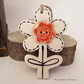 Pottery Flower Ceramic hanging decoration. Illustrated Flower pottery decoration