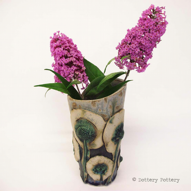 Ceramic Vase Flower decoration studio pottery