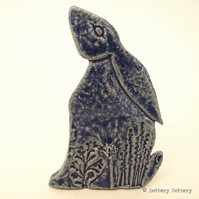 Ceramic Moon Gazing Hare Pottery Hare decoration