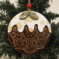 Ceramic Christmas pudding decoration Xmas decoration Xmas pud pottery decoration