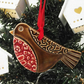 Ceramic Robin Christmas decoration Pottery robin Xmas decoration pottery bird