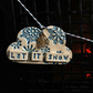 Let it Snow Pottery Cloud Garland Christmas Decoration Ceramic Clouds