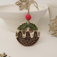Ceramic Christmas pudding decoration Xmas decoration Xmas pud