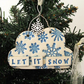 Let It Snow cloud pottery decoration Christmas decoration ceramic cloud