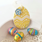 Pottery Easter Egg decoration Ceramic Easter Egg patterned egg bright pattern