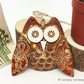 Ceramic owl hanging decoration Pottery owl ceramic bird brown